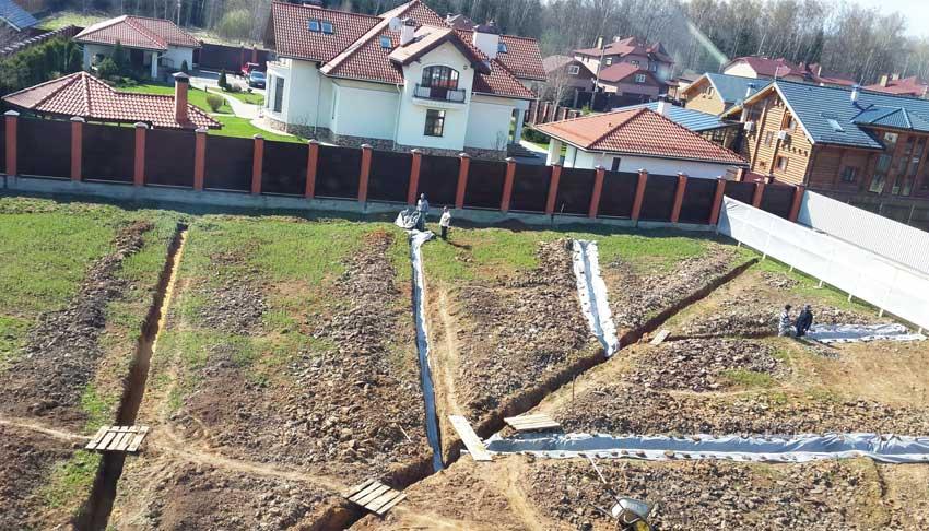drenaj 8 - Обустройство дренажной системы на дачном участке под ключ
