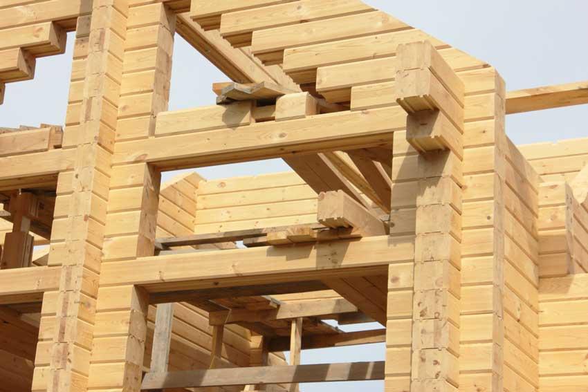 Строительство дома из клееного бруса