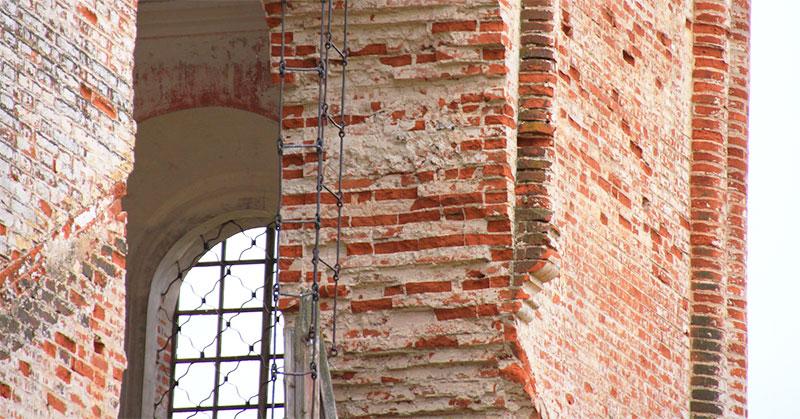 Толщина стены из кирпича старого здания
