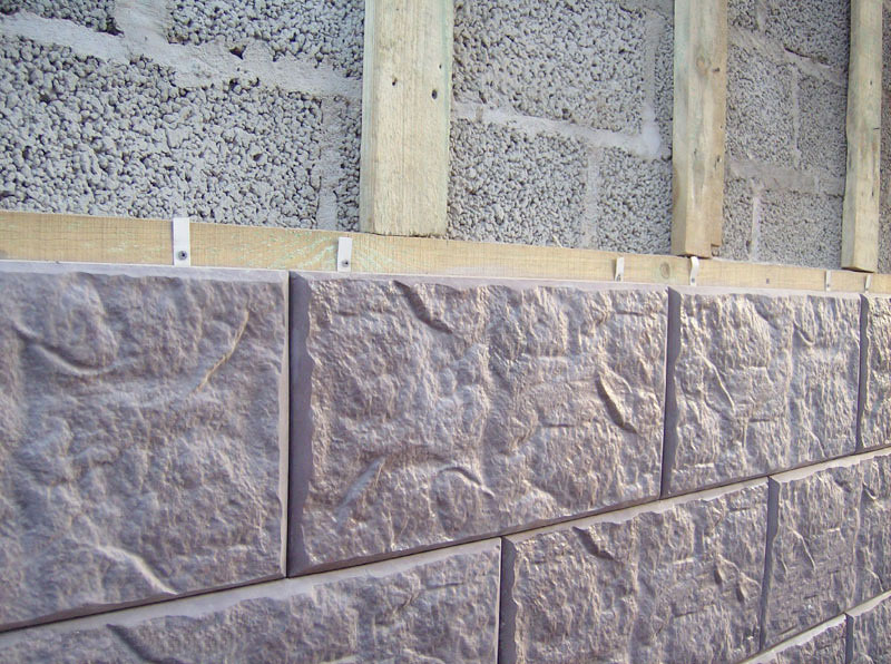Монтаж фасадной плитки на обрешетку