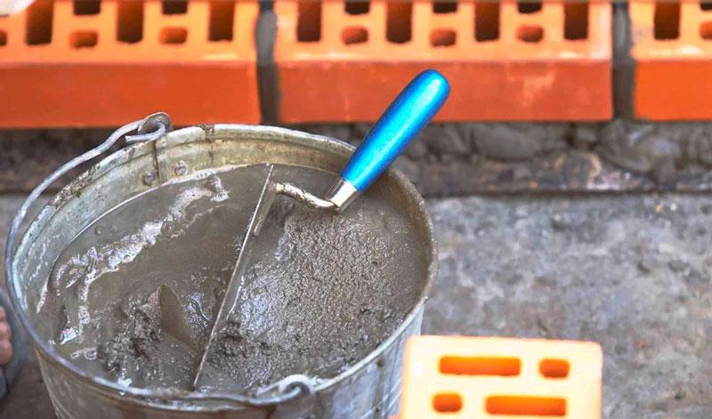 Цементный раствор для кладки кирпича