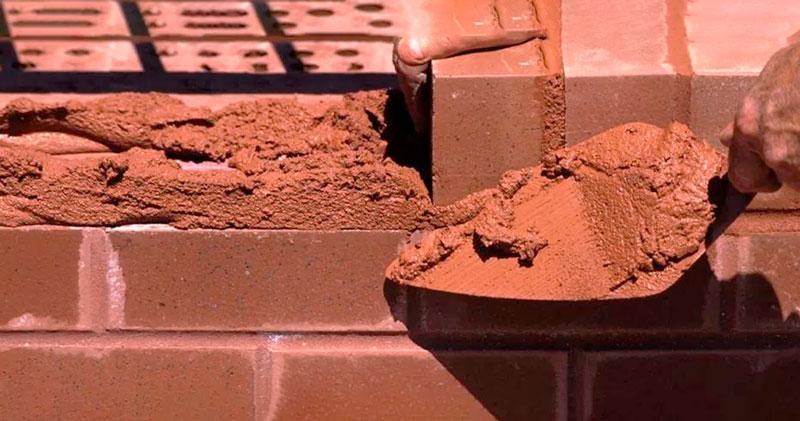 Цементно-глиняный раствор для кладки кирпича