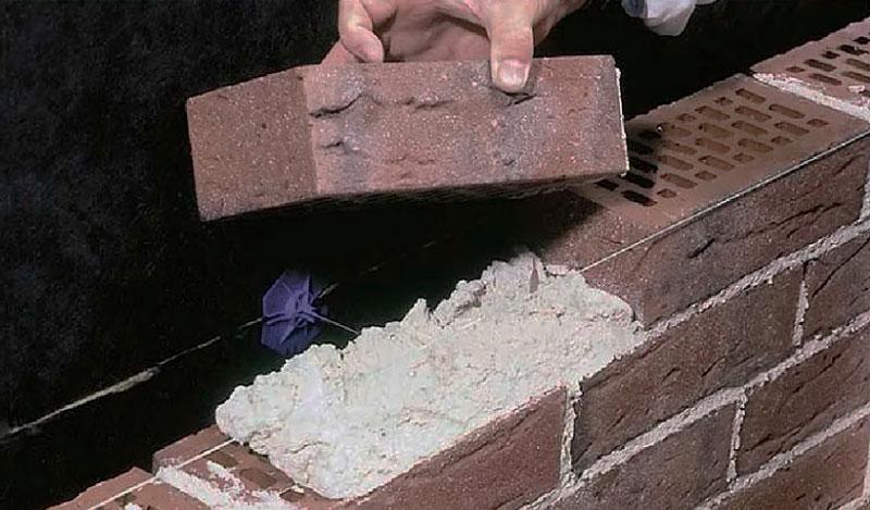 Цементно-известковый раствор для кладки кирпича
