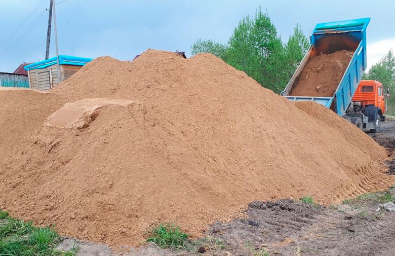 Доставка нерудных материалов: песок.