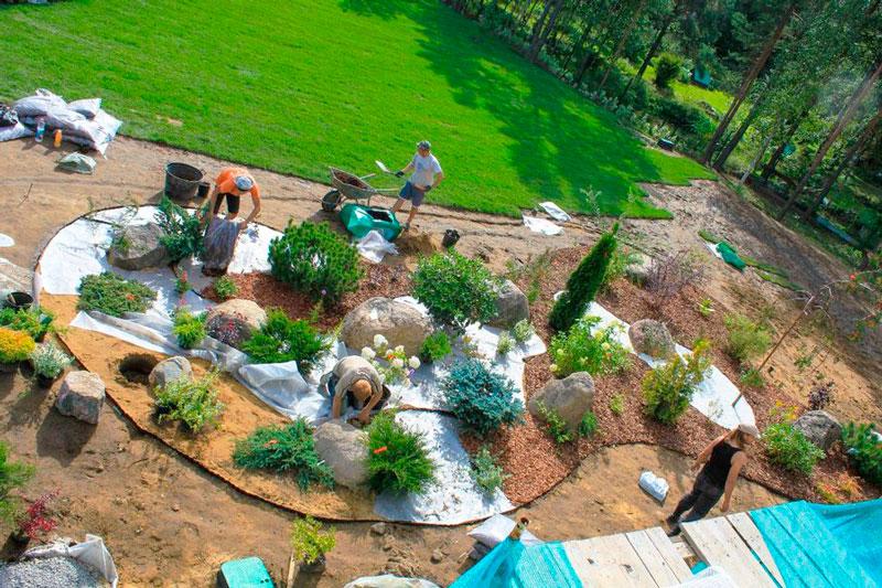 land rab3 - Ландшафтные работы под ключ: организационные мероприятия, подготовка проекта, проведение работ