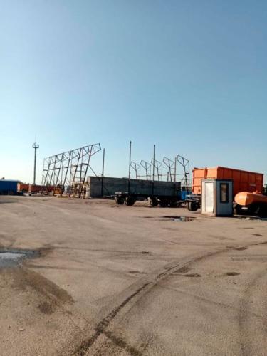 8 - Монтаж большого ангара на сваях в СПб
