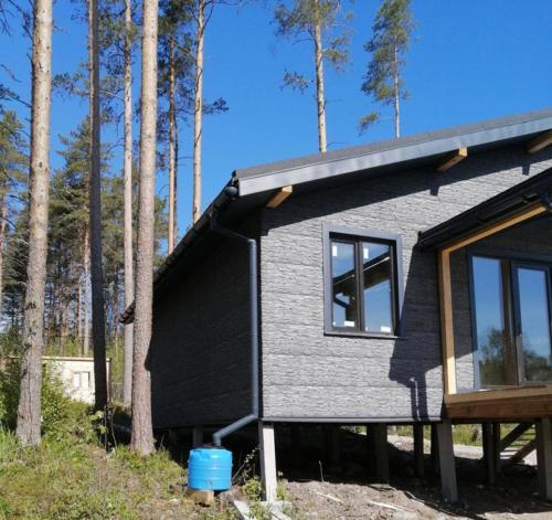 Строительство дома из СИП-панелей, внешняя отделка