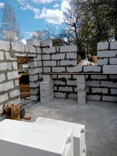 Строительство хозблока из газобетона