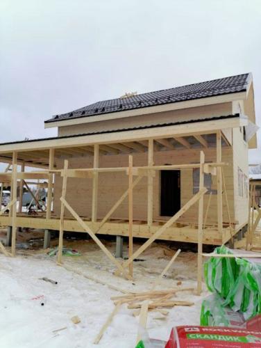 Строительство каркасного дома эконом класса, цена от 15000р. за м2