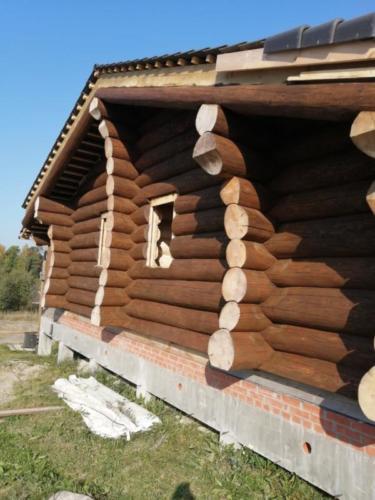 okr sr1 - Окрашивание сруба дома в Ленинградской области