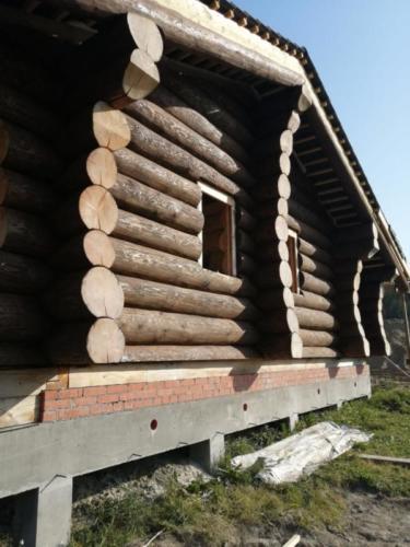 okr sr3 - Окрашивание сруба дома в Ленинградской области