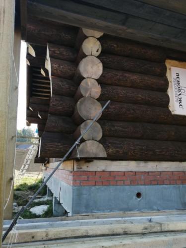okr sr7 - Окрашивание сруба дома в Ленинградской области