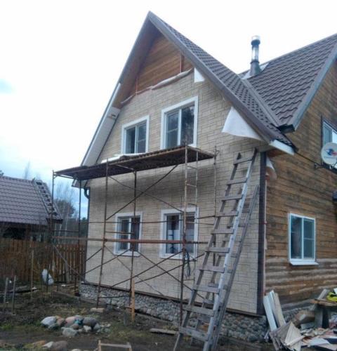otdel mot 7 - Портфолио: внешняя отделка дачного домика в Моторном