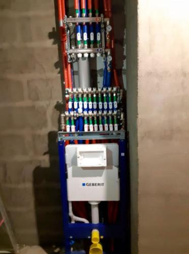 Инженерные коммуникации: отопление, котел, теплые полы.