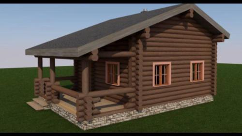 0T3mCM5 6 I - Сруб маленького уютного домика