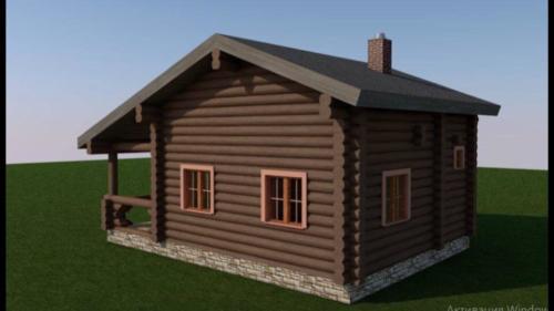 Fy9H5GezIC4 - Сруб маленького уютного домика