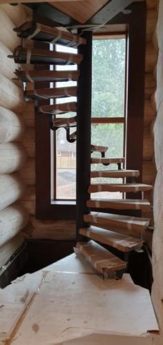 20 - Внутренняя отделка коттеджа из сибирского кедра